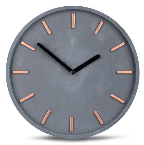 wanduhr grau high quality concrete clock wall in grey copper time