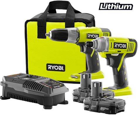 deal ryobi 18v one drill impact driver combo for 99