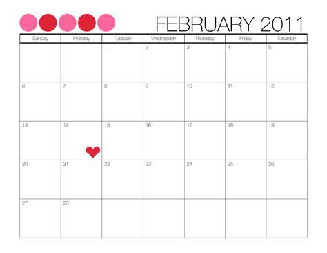 printable monthly calendar sle feb printable calendar