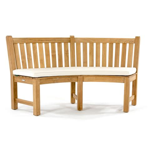 curved garden bench cushions sunbrella curved bench cushion westminster teak outdoor