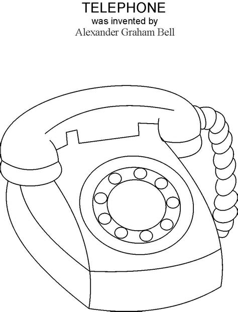 free coloring pages of telephone