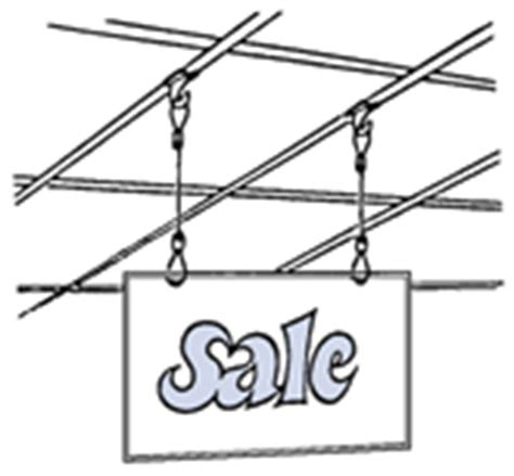 Ceiling T Bar Hangers by Hang Ups Unlimited T Bar Hooks Sign Hanging Kits