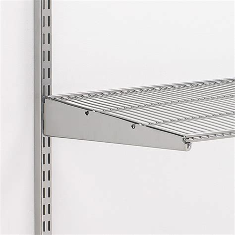 Elfa Shelf Brackets by Platinum Elfa Ventilated Shelf Brackets The Container Store