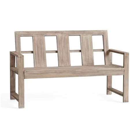 benches pottery barn indio porch bench pottery barn