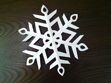 A Snowflake From Paper - how to make a paper snowflake