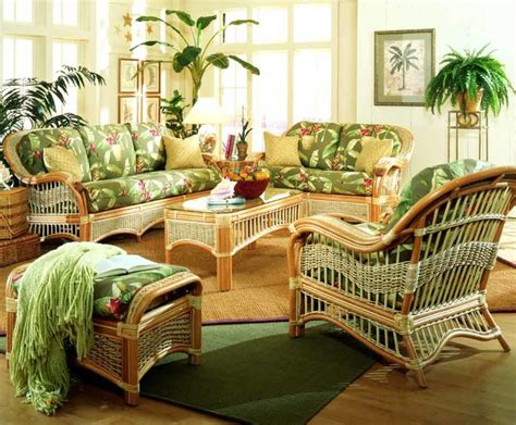 wicker living room set 6 pc indoor rattan living room set baja lemon all