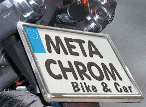 Kennzeichenhalter Grundplatte Motorrad by Kennzeichenhalter F 252 R Schilder 180 X 200mm Chrome