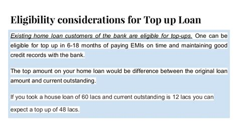 housing loan top up home loan top up process