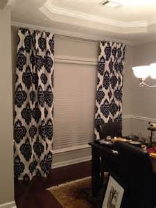 Ideas For Ikat Curtain Design Navy Blue Ikat Curtains And Sherwin Williams Repose Gray Paint In My Dining Home Design