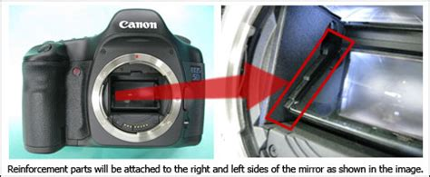 canon eos 5d mirror problem – it fell off!