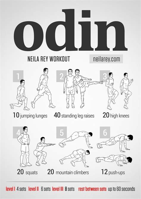 odin workout works quads lateral abdominals