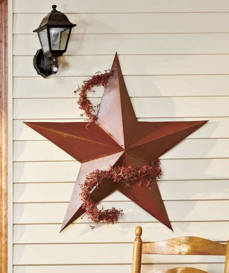 3 pc rustic metal barn star set wall art home decor new 36 quot dimensional barn star metal rustic interior exterior