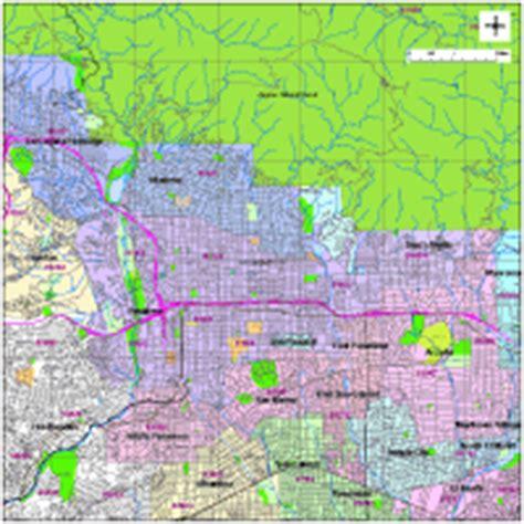 zip code map pasadena ca pasadena digital vector maps download editable