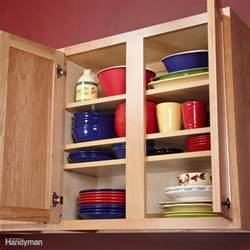 storage ideas for kitchen cupboards kitchen storage ideas the family handyman