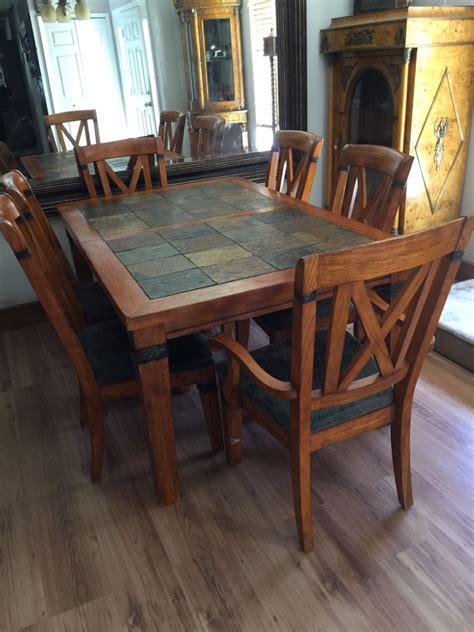slate dining room table letgo slate wood dining room table in ocala fl