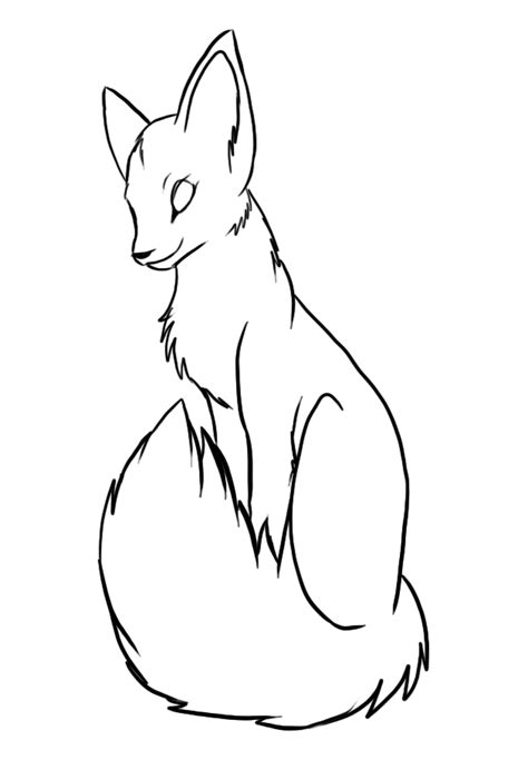 Fox Drawing Outline by Fox Drawings Outline Coloring Pages Sketch Coloring Page