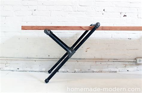 pipe bench diy homemade modern ep23 pipe bench