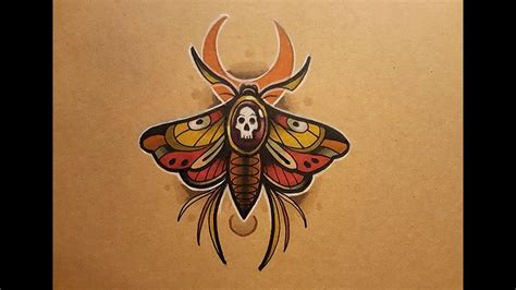 neo trad butterfly tattoo how to draw a neo traditional moth tattoo style youtube