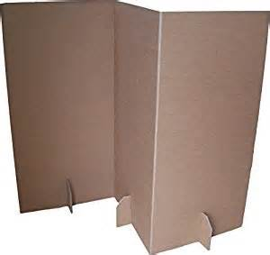 paperpod cardboard room divider 2 pack brown amazon
