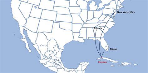 delta destination map delta to serve cuba from new york jfk atlanta