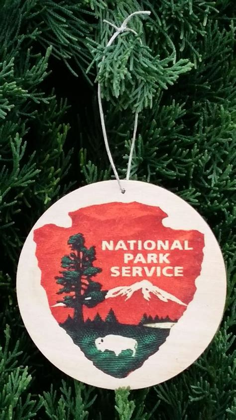 national park christmas ornaments set of 3 national park service wood ornaments by madeinhawaiiusa