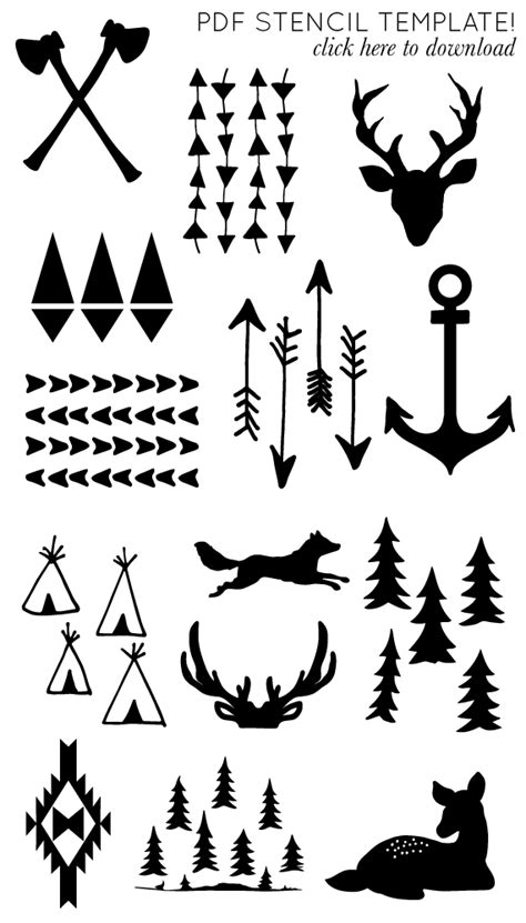 I Will Need These One Day Im Sure Printable Arrow And Antler Templates Diy Generic Tattoo Diy Will Template