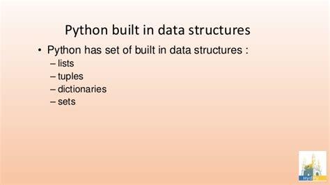 python tutorial data structures datastructures in python