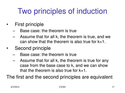 principle of induction 28 images mathematical induction cont ppt cooking technology cool