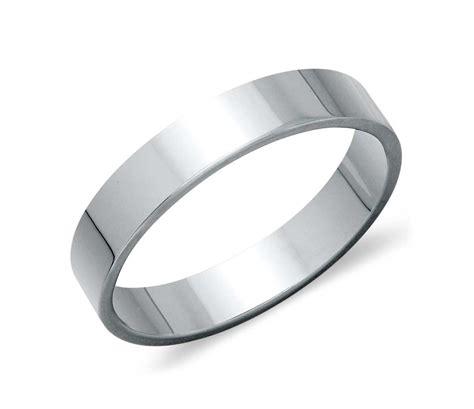 flat wedding ring in platinum 4mm blue nile