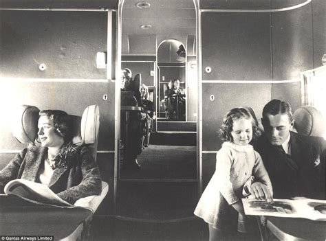 qantas flying boat photos qantas first class cabin over decades revealed in stunning