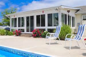 enclosing a patio enclosing this patio roof by the pool created a