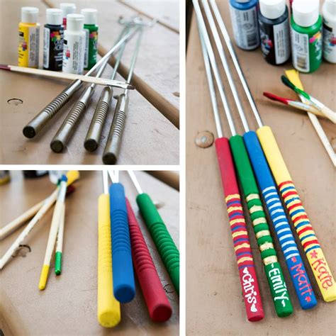 roasting sticks family activity diy roasting stick skewers designs