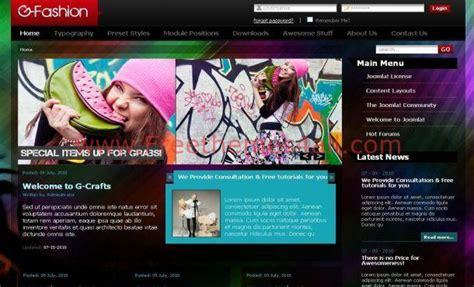 joomla fashion template free free colorful fashion joomla theme template