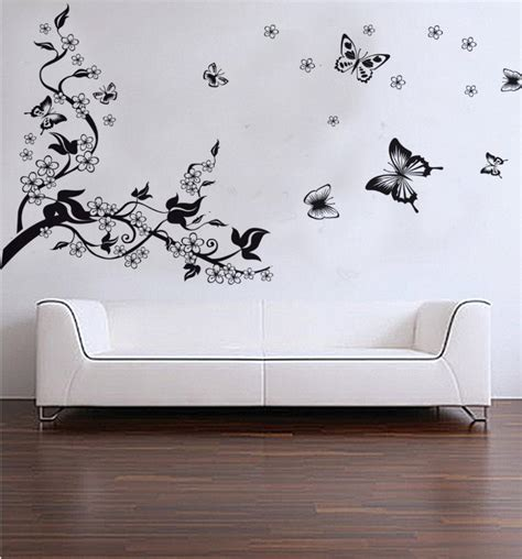 butterfly wall decals for rooms trees and butterfly vinyl wall stickers black butterfly