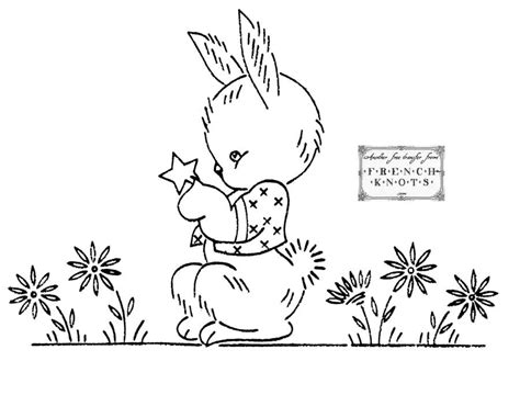 coloring book embroidery embroidery transfer patterns bunny rabbits az coloring