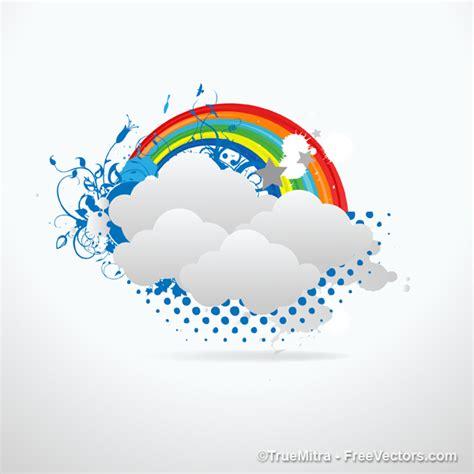 scarica clipart gratis arcobaleno nuvole illustrazione vettoriale scaricare