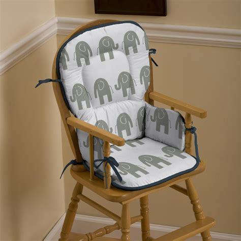 navy  gray elephants high chair pad carousel designs