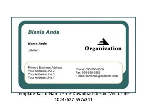 template kartu nama eps kartu nama gratis download 53 model format vector