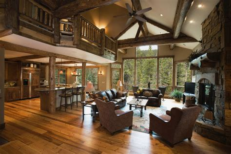 mountain home decor settlers creek chalet rustic living room other metro