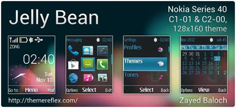 nokia 110 watch themes jelly bean theme for nokia c1 01 c2 00 110 112 2690