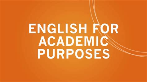 For Academic Purposes A Successful Way To Learn Scientific learn for academic purposes