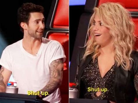 Shakina Syar I Marun 5 shakira a callate out of adam levine in the voice