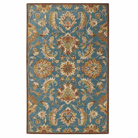 home decorators collection vogue teal blue  ft   ft