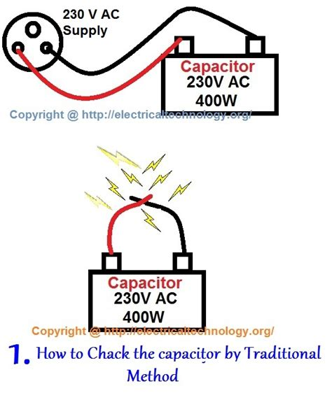 how to check bad capacitors with analog multimeter how to test a capacitor 6 ways to check a capacitor electrical eng