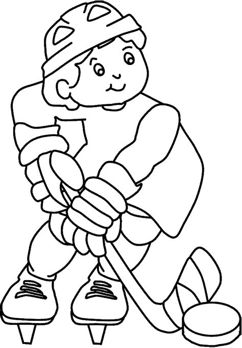 Printable Coloring Pages Hockey | free printable hockey coloring pages for kids
