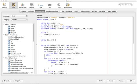 format date netbeans 5 java formatting options in netbeans you probably missed