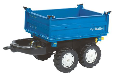 blue trailer rolly 121106 blue mega trailer for pedal tractor farm