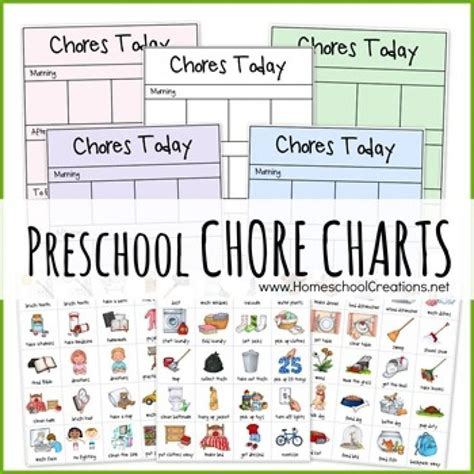 Picture Chore Card Templates by 1000 Ideas About Preschool Chore Charts On