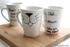 mug ideas diy personalized mugs with sharpie diy craft projects