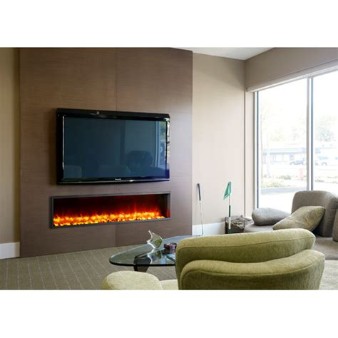 Built In Electric Fireplaces by Dynasty 63 Quot Built In Led Electric Fireplace Reviews